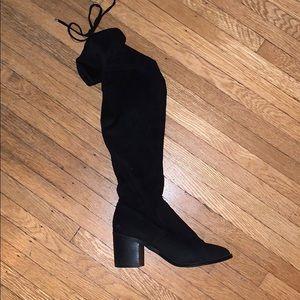 Steve Madden Black knee high boots